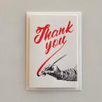"""Thank you"", サインペインティングのグリーティングカード, bgc_003"