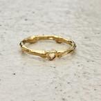 bone ring HEART #01010  gold 骨リングハート/ゴールド