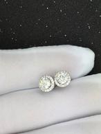 モアサナイト 1カラット ダイヤモンド 18k ピアス 一粒ダイヤピアス