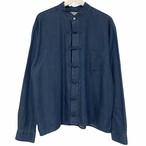 Remake China Shirt 【 Denim Blue Long 】