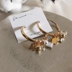 【イヤリング】initial charm earring