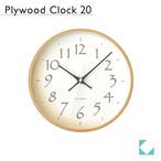 KATOMOKU plywood clock 20 km-119BL 掛け時計