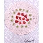 コンパクト押し花 レースフラワー(ホワイト&スカーレット) 少量をパックにしてお届け! 押し花素材