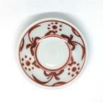 【砥部焼/梅山窯】3寸小皿(赤太陽)