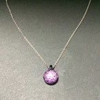 Dichroic dot necklace