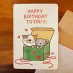 グリーティングカード[Birthday5]封筒付き(GTC-B5)