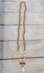 【三位一体】ルドラクシャ&ケオン&グリーンウリ★ホワイト珊瑚108粒マーラー