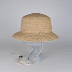SS21-BD-12 Wide Raffia Bucket Hat - NAT/BEG