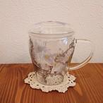 茶こし付きガラスのハーブティーカップ ガールズ・デイ・ドリーム・リリー