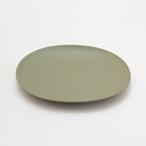 oval plate_L / shishikui green