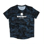 SAYSKY セイスカイ ランニングTシャツ Classic Camo Combat Tee - Pixel Camo  ピクセルカモフラージュ  EMRSS02 [ユニセックス]