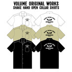 VOLUME ORIGINAL / SHAKE HAND OPEN COLLAR SHIRTS