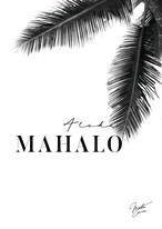 MAHALOVE 作品名: Mahalo black  A4ポスターアルミフレームセット【商品コード: ml-mahalo black 】