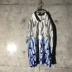 [used] blue flame designed shirt