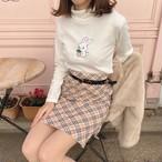 いちごうさぎセーター(ホワイト / ピンク / ブラック / ボルドー)