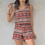 Back Lace-up Rompers《RED》