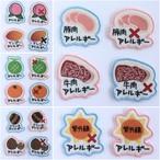 アレルギー表示ワッペン■桃など9種類