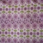 [B127]ドイツ ヴィンテージファブリック 64×50cm 紫/パープルの花柄