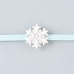 白磁の帯留め 雪の結晶