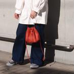 【saranam】tuck kincyaku bag/ 【サラナン】タック 巾着 バッグ