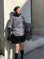 スパンコールTシャツ Tシャツ トップス 韓国ファッション