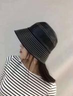 予約注文商品 レザーステッチバケットハット バケットハット ハット 韓国ファッション