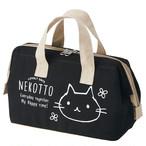 【ねこっと】帆布地保冷がまぐち型ランチバッグ【猫柄 36596-6】