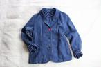 ジャケット JK 01 藍染濃紺スラブ縞柄(M44)