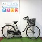 電動自転車 ママチャリ Panasonic ビビDX プラズマシルバー 26インチ【YU011】 【横浜】
