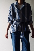 Vintage stripe shirt with west belt