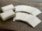【活版印刷】 FRAME card box ブラック / ブロンズ(6種5枚ずつ 30枚入り)