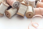 "METALLIC LINE WOOD SPOOL COTTON RIBBON 1/4"" WIDTH【Studio Carta】"