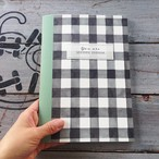 Meditation Notebook【Khaki・無地A5変形サイズ38ページ】ギンガムチェック