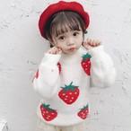 【子供服】いちご保温柔らかいセーター24277078
