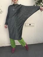80s dolman sleeve silver lame dress ( ヴィンテージ ドルマンスリーブ シルバー ラメ ワンピース
