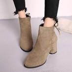 【shoes】Comfortable heel zipper boots