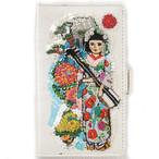 刺繍モバイルケースL Shamisen girl