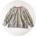 【ギャザースリーブプルオーバー】gift/グレー/original textile
