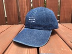 THREEARROW刺繍デニムCAP(dark denim)