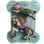 刺繍ミニブローチMerry-go-round