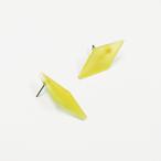 草木染/幾何学片耳用ピアスイヤリング/E-6_DS_PD