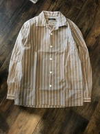 modem design stripe shirt / beige
