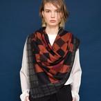 Merino Wool 'Paddington' black 正方形スカーフ