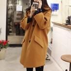 【アウター】無地ファッション折襟長袖人気コート14933280