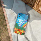 【オーダー商品】Oil rainbow flowers iphone case