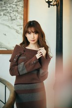 Cashmere-blend Stripe Knit Dress