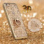 【送料無料】キラキラ3Dダイヤモンド&リング付ケース iPhone6,6s,6Plus,6sPlus,7,7Plus