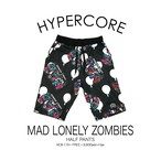 B-119 MAD LONELY ZOMBIESハーフパンツ