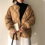 洗練 シンプル キルティング ジャケット コート 2color  シンプル 通勤 韓国 オルチャン