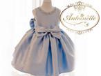 赤ちゃん size90 100 110 120 130 140 150 セレモニードレス ビジュー 青 ブルー 水色 ドレス キッズドレス